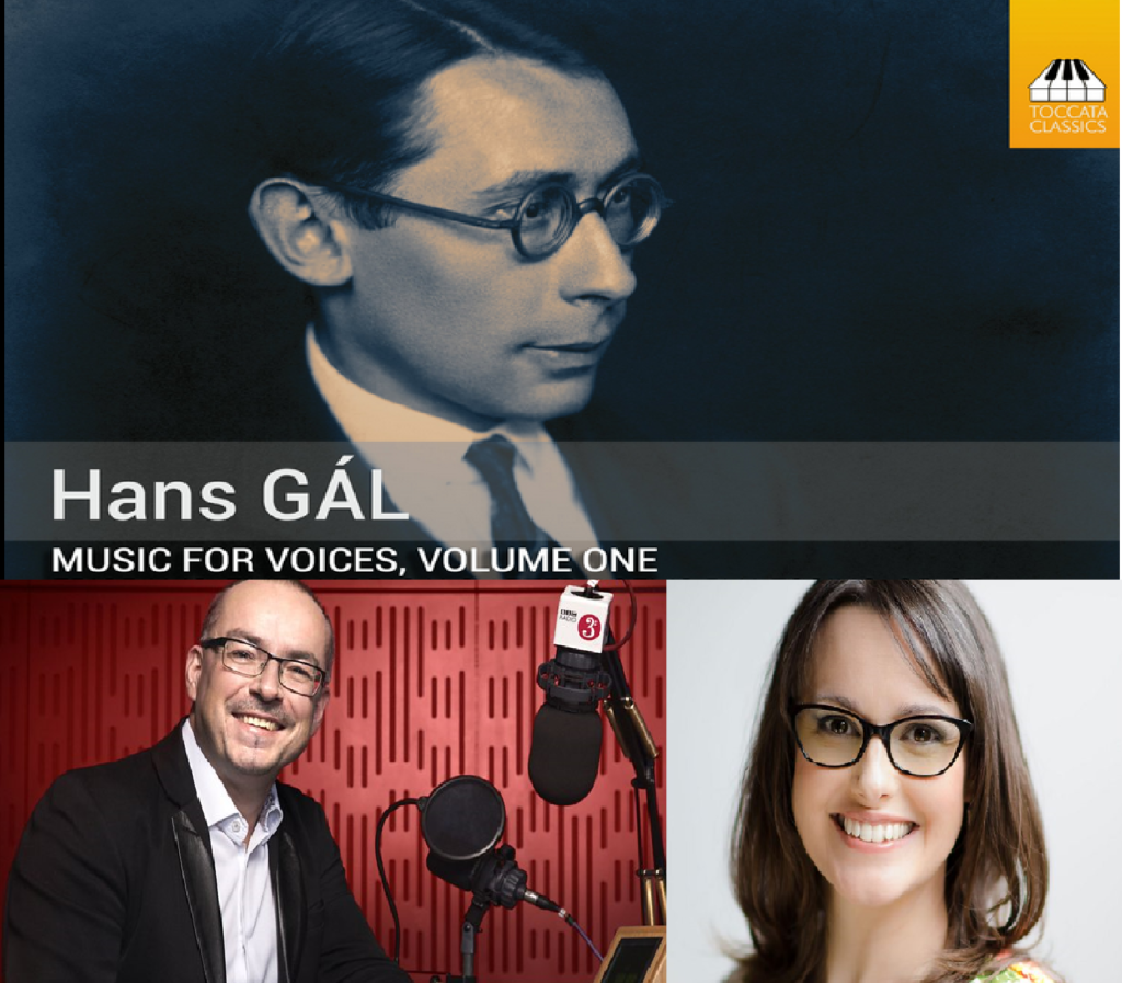 Combined image of Hans Gal CD and the presenters of Record REview (Extra)